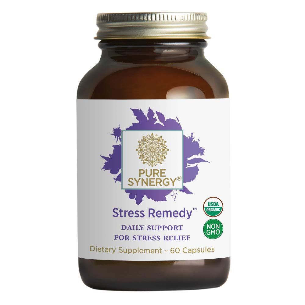 Pure Synergy Stress Remedy™ (60 Capsules) 9 Stress-Relieving Organic Herbal Extracts Including Ashwagandha, Rhodiola & More