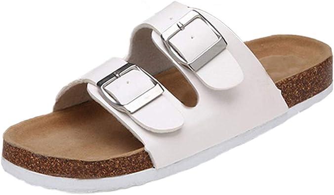 Slides Cork Flat Platform Sandals