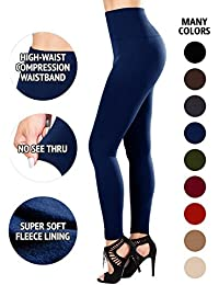 Fleece Lined Leggings High Waist Compression Slimming...