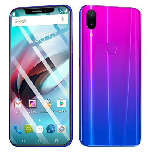 Weite 8 Cores 6.2'' Full Screen 3G Unlocked Smartphone with Finger Print Sensor, Supports Face Recognition/Android 8.1 IPS/16GB/Dual HD Camera/Dual SIM Card/3800Mah Lithium-ion Battery (Purple) by Weite (Image #1)