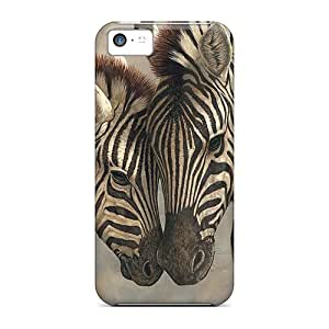 Hot Design Premium Ecp19363pbeL Cases Covers Iphone 5c Protection Cases(mother And Baby Zebras)
