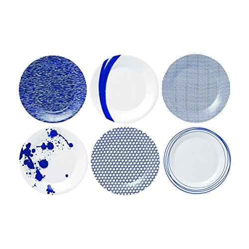 Royal Doulton Pacific Accent Plates, 9-Inch, Blue, Set of - Bowl Cereal Blue Royal