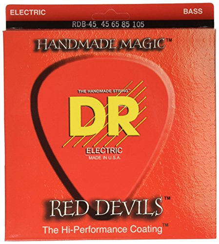 (DR Strings Red Devils - Extra-Life Red Coated Bass 45-105)