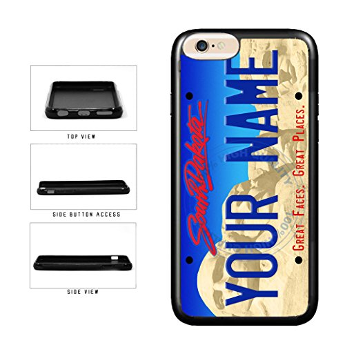 BleuReign(TM) Personalized Custom Name South Dakota State License Plate TPU Rubber Silicone Phone Case Back Cover for Apple iPhone 8 Plus and iPhone 7 Plus (South State License Plate Dakota)