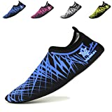 VILISUN Water Shoes, Beach Aqua Surf Diving Swim Running Snorkeling Barefoot Skin Shoes Quick Drying Lightweight for Men & Women Durable Rubber Sole Aqua Socks