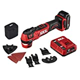 SKIL PWRCore 12 Brushless 12V Oscillating MultiTool, Includes 2.0Ah Lithium Battery and PWRJump Charger - OS592702