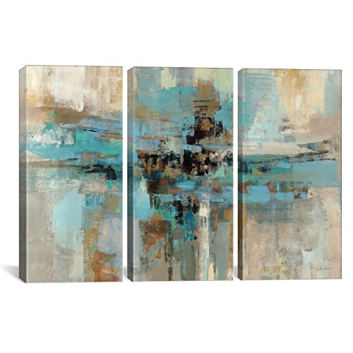 iCanvasART WAC1383 3-Piece Morning Fjord Canvas Print Set by Silvia Vassileva, 60 by 40-Inch, 1.5-Inch Deep