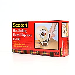 Scotch Box Sealing Tape Dispenser H180, 2 in