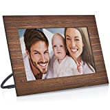 NIX Lux 13.3 Inch Hi-Res Digital Photo & Full HD Video Frame (Non-WiFi), with Hu-Motion Sensor – Wood (X13B)