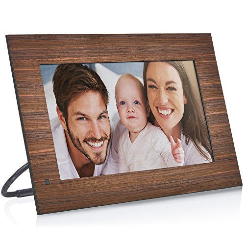 NIX Lux 13.3 Inch Hi-Res Digital Photo & Full HD Video Frame (Non-WiFi), With Hu-Motion Sensor – Wood (X13B) For Sale