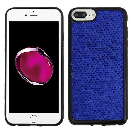 - Blue/Silver Double-Sided Sparkling Sequin (Black) Candy Skin Cover for Apple iPhone 6s Plus/6 Plus Apple iPhone 8 Plus/7 Plus