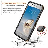LG K20 Plus Case, LG K20 / LG K20V / K20 V / K10 2017 / Harmony / LG Grace 4G LTE with [Tempered Glass Screen Protector],NageBee [Heavy Duty] Shock Proof [Holster Belt Clip] Kickstand Combo Case -Camo