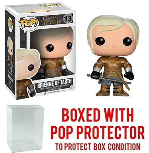 Funko Pop! Game of Thrones: GOT - Brienne of Tarth #13 Vinyl Figure (Bundled with Pop BOX PROTECTOR CASE) by Funko