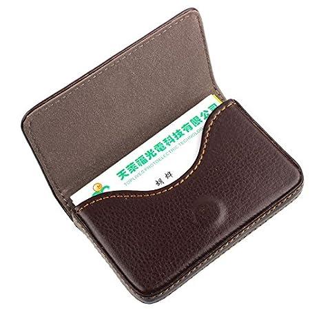 Amazon.com: Funda de piel para tarjetas de visita tarjetas ...