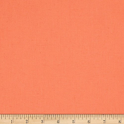- Tempo Fabric Cotton/Linen Solid Coral Yard