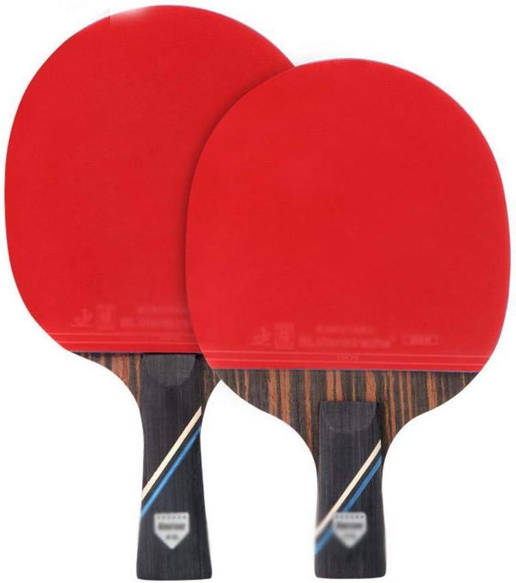 KDXBCAYKI Raqueta De Tenis De Mesa De Seis Estrellas El Paquete De 2 Principiantes Establece La Raqueta De Tenis De Mesa For Enviar Un Bolígrafo Horizontal De Tres Bolas