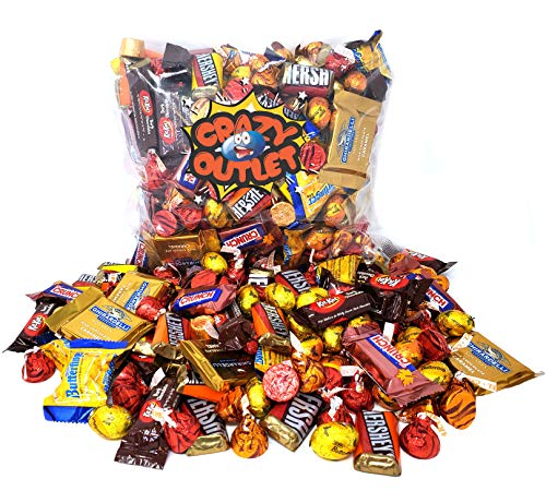 Nestle Chocolate Bars Halloween (Thanksgiving Chocolate Candy Assortment - Ghirardelli, Nestle Crunch, Kit Kat, Hershey's, Butterfinger, Kisses, Rolo, Autumn Color Chocolate Candy Mix, Bulk Pack, 3)