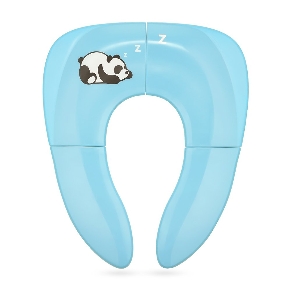 Jerrybox Foldable Travel Potty Seat for Babies, Toddlers Potty Seat, Toilet Training with Carrying Bag