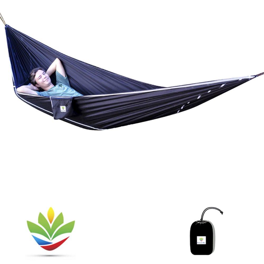 Hammock Bliss Sky Bed – Abhängen in einer Hängematte, Schlafen wie in einem Bett – einmaliges, asymmetrisches Design bietet erstaunlich flachen sowie komfortablen Platz zum Schlafen – incl. 2,5m Befestigungsseile an jeder Seite