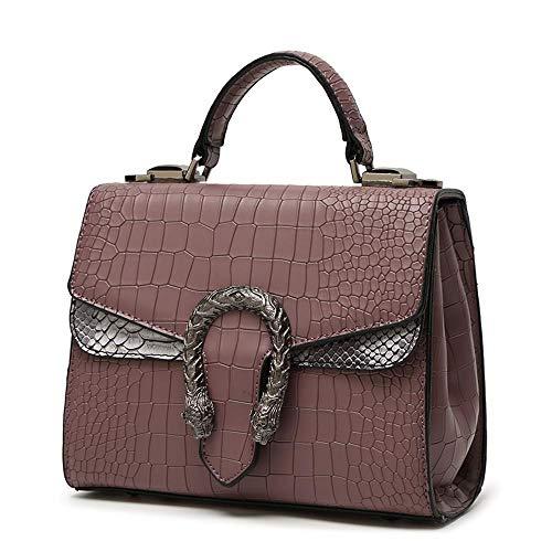 Capa Dama 10 Textura Serpiente Tela Y Bandolera con PU cm a Cuero Cabeza 17 de 20 de YT Purple Bolsos de 5 Bolso 67Hq4Y07