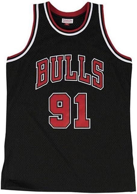 Dennis Rodman # 91 Alero de Baloncesto Jersey Chicago Bulls Unisex Camiseta sin Mangas