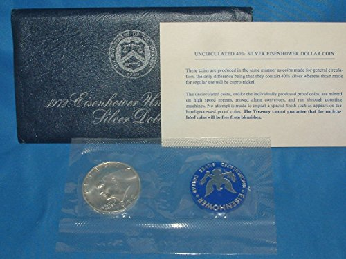 eisenhower uncirculated silver dollar 1972