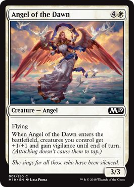 Magic: The Gathering - Angel of the Dawn - Foil - Core Set 2019