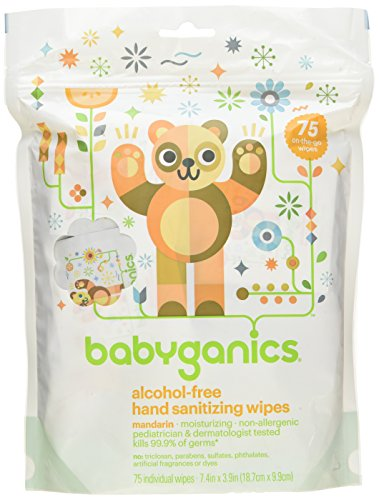Babyganics Hand Sanitizing Wipes Light Citrus Alcohol Free -