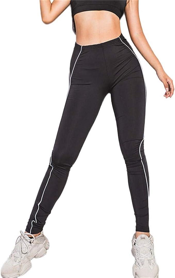 LeeMon - Leggings reflectantes para mujer, cintura alta, para ...