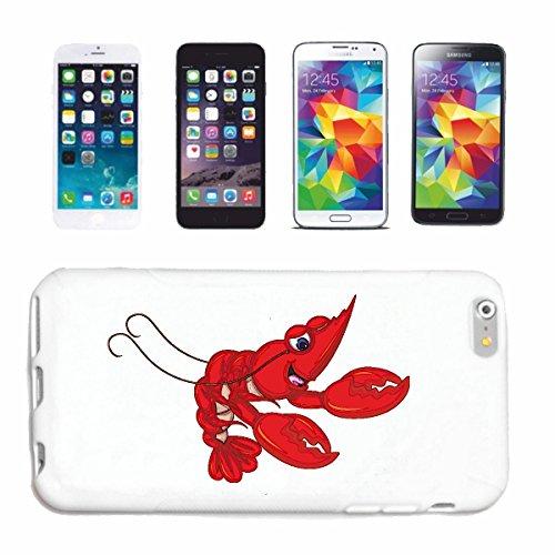 """cas de téléphone iPhone 7+ Plus """"CANCER ROUGE PETITS AVEC CISEAUX CANCER ANIMALE CANCER brun crevettes crevettes"""" Hard Case Cover Téléphone Covers Smart Cover pour Apple iPhone en blanc"""