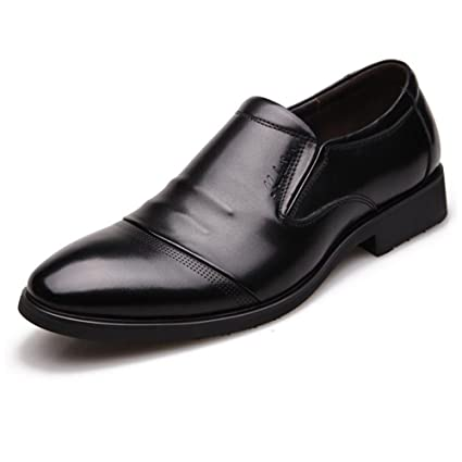 Teresamoon Mens Dress Shoes Classic Oxford Business Shoes Formal Office Genuine Leather Shoes
