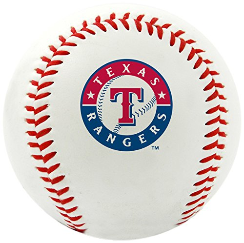 fan products of MLB Texas Rangers Team Logo Baseball, Official, White