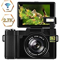 Digital Camera Vlogging Camera 24MP Ultra HD 2.7K WiFi...