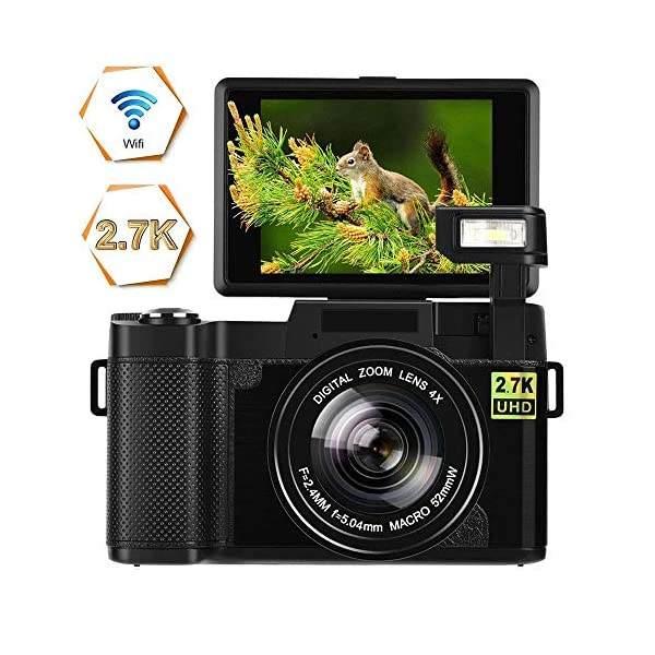 51xEAepesuL. SS600  - Digital Camera Vlogging Camera 24MP Ultra HD 2.7K WiFi YouTube Camera 3.0 Inch 180 Degree Rotation Flip Screen Camera…