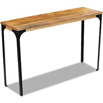 Festnight Table Console En Bois Le Style Industriel Table De