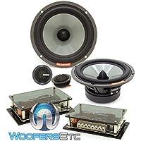 Memphis VIV60C 6.5 80W RMS SixFive Series 2-Way Component Speakers System