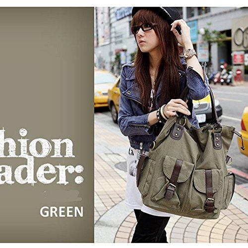 Women Bag Canvas Chikencall Handbag Bags Shoulder For Big Travel Shopping Purse Armygreen Tote Casual Work Hobo YBqnnxwa
