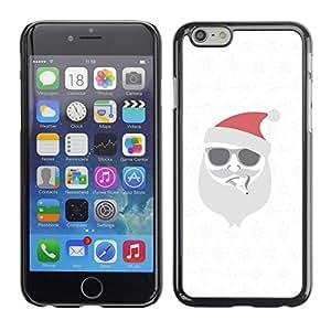 Cubierta de la caja de protección la piel dura para el Apple iPhone 6 (4.7) - white Christmas winter holidays