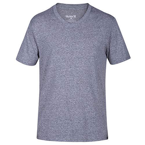 Hurley T-shirt Shorts - Hurley Men's Short Sleeve Staple Tri-Blend Crew Neck and Vneck Tee Shirt, Cool Grey, XL