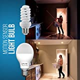 Motion Sensor Light Bulb - Motion Activated Light Bulb - LED Dusk to Dawn Light Bulb - Motion Detector Light for Outdoor Indoor Front Door Garage Basement Porch - E26 9W 2700K Soft White