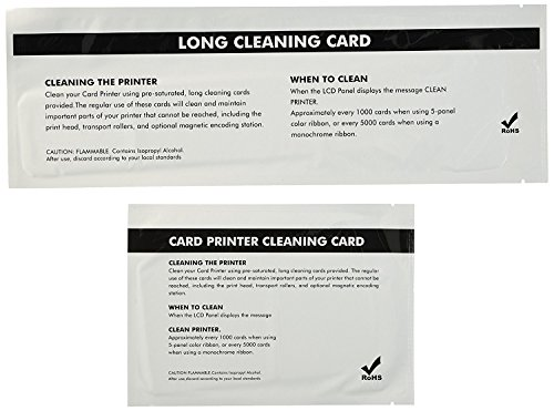 Cleaning Kits for Zebra P110i, P110m and P120i - 4 pcs Engine Cleaning card and 4 pcs T Type Cleaning Card (Zebra P110i Id Card)