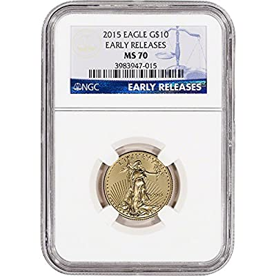 2015 American Gold Eagle (1/4 oz) $10 MS70 - Early Releases NGC