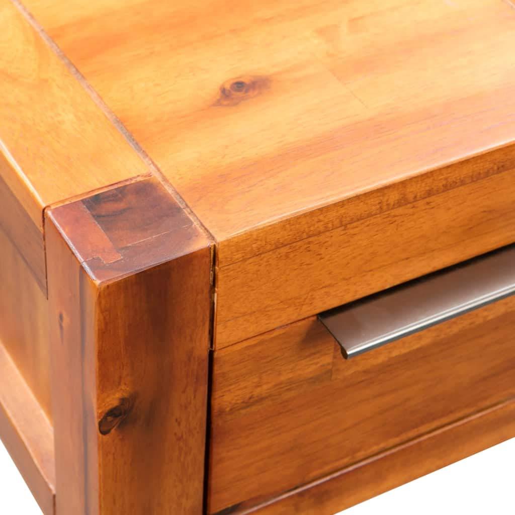 Festnight Tavolino da caff/è in Legno Massello di Acacia 30x30x70 cm Tavolino da Salotto