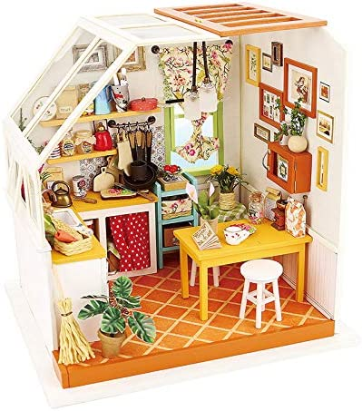 Wooden Doll House or   Fairy House with Two Floors intricate Desig Dolls House