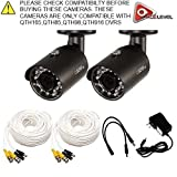Q-See 4MP HD Bullet Camera 2-Pack: 2688×1520, 3.6mm Lens, 36 IR LEDs, IR up to 100ft, AGC, IP66 – QTH8071B For Sale