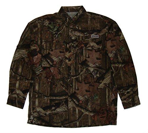 Bimini Bay Outfitters Gulf Stream w/ Camo Side Panels Long Sleeve Shirt