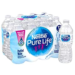 Nestle Pure Life Purified Water (.5-liter / 12-pack) comes in convenient plastic, resealable bottles, for easy, on-the-go hydration. And, with no calories and no sweeteners, water is a smart choice as a refreshing beverage. Our bottled water undergoe...