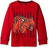 Gymboree Little Boys' Toddler Long Sleeve Graphic Tee, Tiger Red, 2T