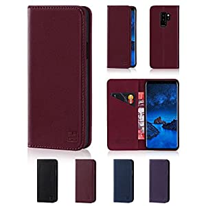 32nd Classic Series - Real Leather Book Wallet Case Cover For Sony Xperia XA2 Ultra, Real Leather Design With Card Slot, Magnetic Closure and Built In Stand