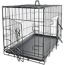 """Paws & Pals 42"""" XXL Dog Crate, Double-Doors Folding Metal w/ Divider & Tray   42"""" x 27"""" x 30""""   2016 Newly Designed Model"""